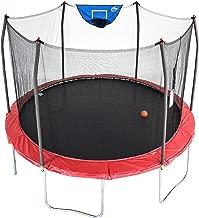 Skywalker Trampolines 12-Foot Jump N' Dunk Trampoline with Enclosure Net - Basketball Trampoline