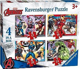 Ravensburger Marvel Avengers – Puzzle de 4 (12, 16, 20, 24 pièces) pour Enfants à partir de 3 Ans, 6942, 0