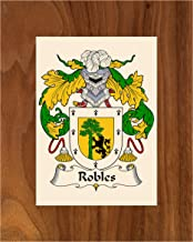 Carpe Diem Designs Robles Coat of Arms/Robles Family Crest 8X10 Photo Plaque, Personalized Gift, Wedding Gift