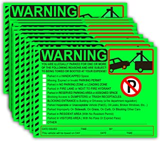 parking warning labels