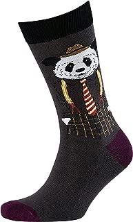 Men's Dapper Panda Jacquard Crew Socks