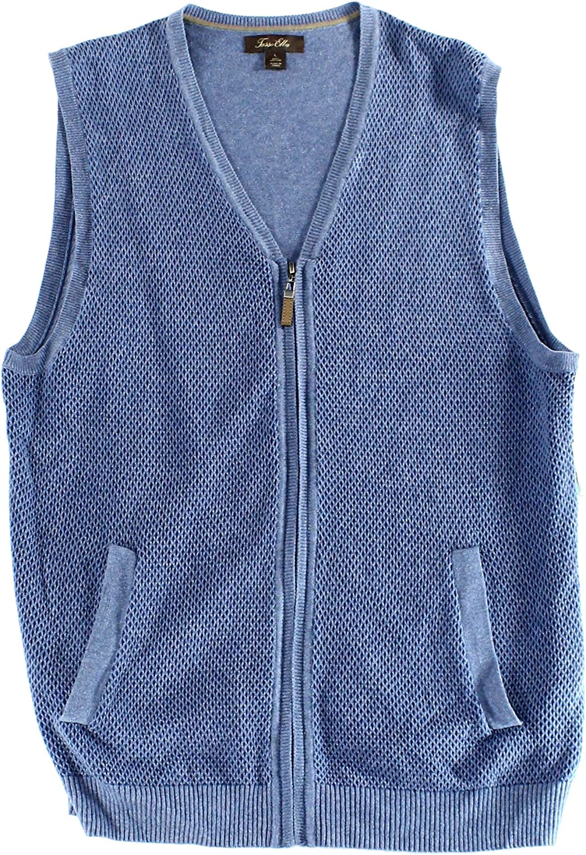 Tasso Elba Mens Textured Sweater Vest