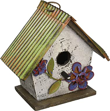 Carson Home Accents Floral White Birdhouse