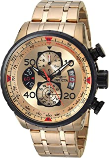 Invicta Men s 17205 AVIATOR 18k Gold Ion-Plated Watch d2b155c2b99