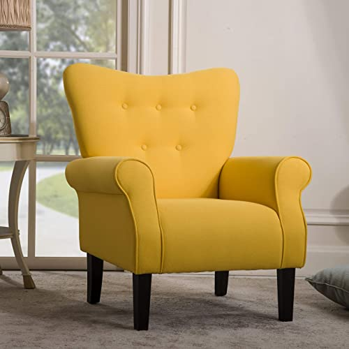 2021 Modern Upholstered Accent Chair discount Armchair, Upholstered Single Sofa Club Chair for Living Room, Including Thick Cushion and lowest Wooden Legs outlet online sale