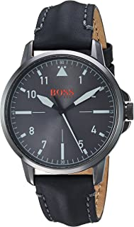 Hugo Boss Orange Chicago Men's Grey Dial Leather Band Watch - 1550061