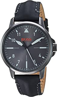 Hugo Boss Orange Chicago Men's Grey Dial Leather Band Watch - 1550061