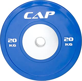 "CAP Barbell Olympic Rubber Bumper Plate with Steel Hub 2"" (Single)"