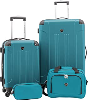 Travelers Club Luggage Chicago Plus 4pc Expandable Luggage Set, Teal