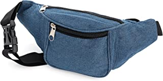 Denim Blue Coloured Fabric Bum Bag Ladies Fashion Bag Festivals/Club wear/Holiday