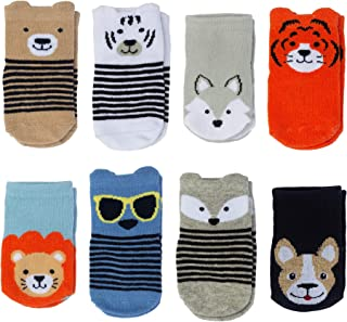 Little Me Baby Boy Socks, 8 Pairs, 0-12 Months