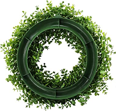 Evoio Front Door Garland 18 Inchs Artificial Wreath Eucalyptus Leaves Greenery Beautiful for Home Festival Wedding Decor