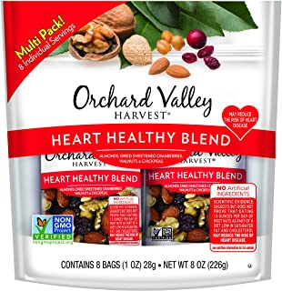 ORCHARD VALLEY HARVEST Heart Healthy Blend, Non-GMO, No Artificial Ingredients, 1 oz (8 Count)