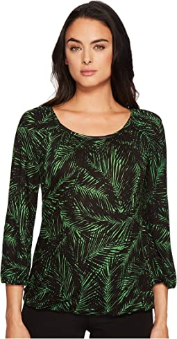 MICHAEL Michael Kors - Palm Scoop Neck Peasant Top