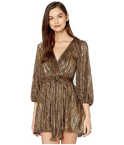 Bardot Belissa Pleat Dress (Gold) Women