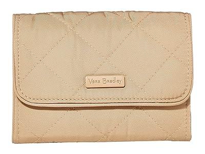Vera Bradley Rfid Riley Compact Wallet (Khaki) Wallet Handbags