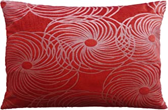 Velvet Pillow Cover - Rust - Decorative Bed Pillowcase - 18x27 (45 cm x 68 cm) Set of Two Covers