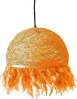 Lámpara HALF FEATHERS naranja - lámpara decorativa de techo estilo Boho