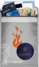 Pyroloc Fireproof Document Bag. Large Capacity (15