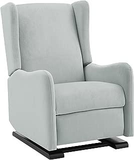 Baby Relax Rylee Tall Wingback Glider Recliner Chair, Light Gray Linen