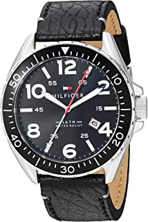 Tommy Hilfiger Men's 1791131 Casual Sport Analog Display Quartz Black Watch