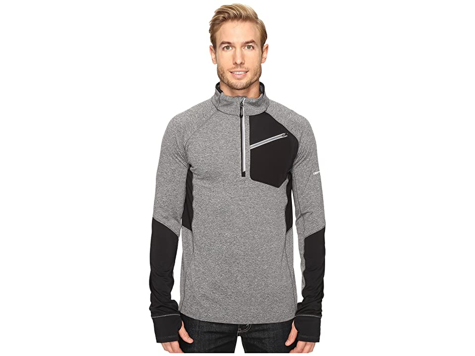 Obermeyer Flight Sport 75Wt Zip Top (Light Heather Grey) Men
