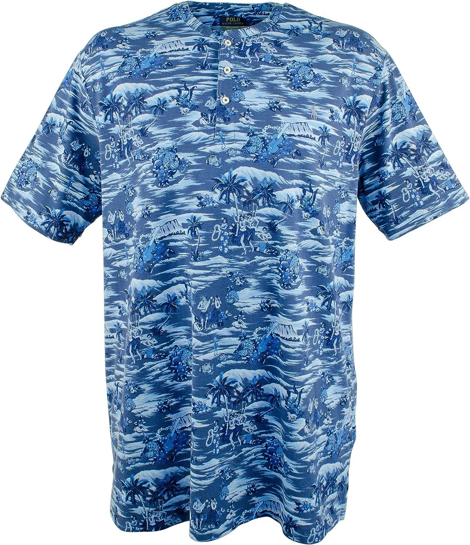 Polo Ralph Lauren Men's Big & Tall Featherweight Mesh Henley Shirt