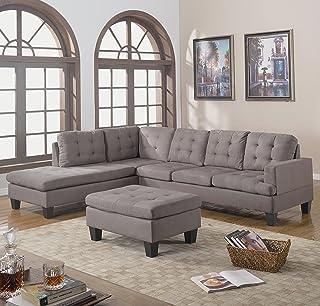 Amazon.com: Grey - Living Room Sets / Living Room Furniture: Home ...