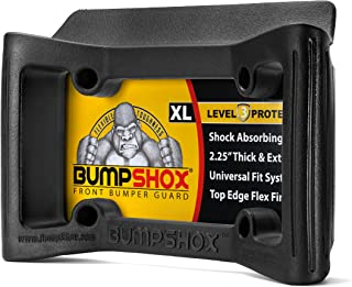 BumpShox XL - Front Car Bumper Protection, Ultimate Front Bumper Guard. Front Bumper Protection License Plate Frame. Tougher Than Steel !