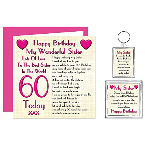 Sister 60th Happy Birthday Gift Set