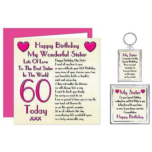 Sister 60th Happy Birthday Gift Set