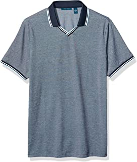 Perry Ellis Men's Pique Open Collar Polo Shirt