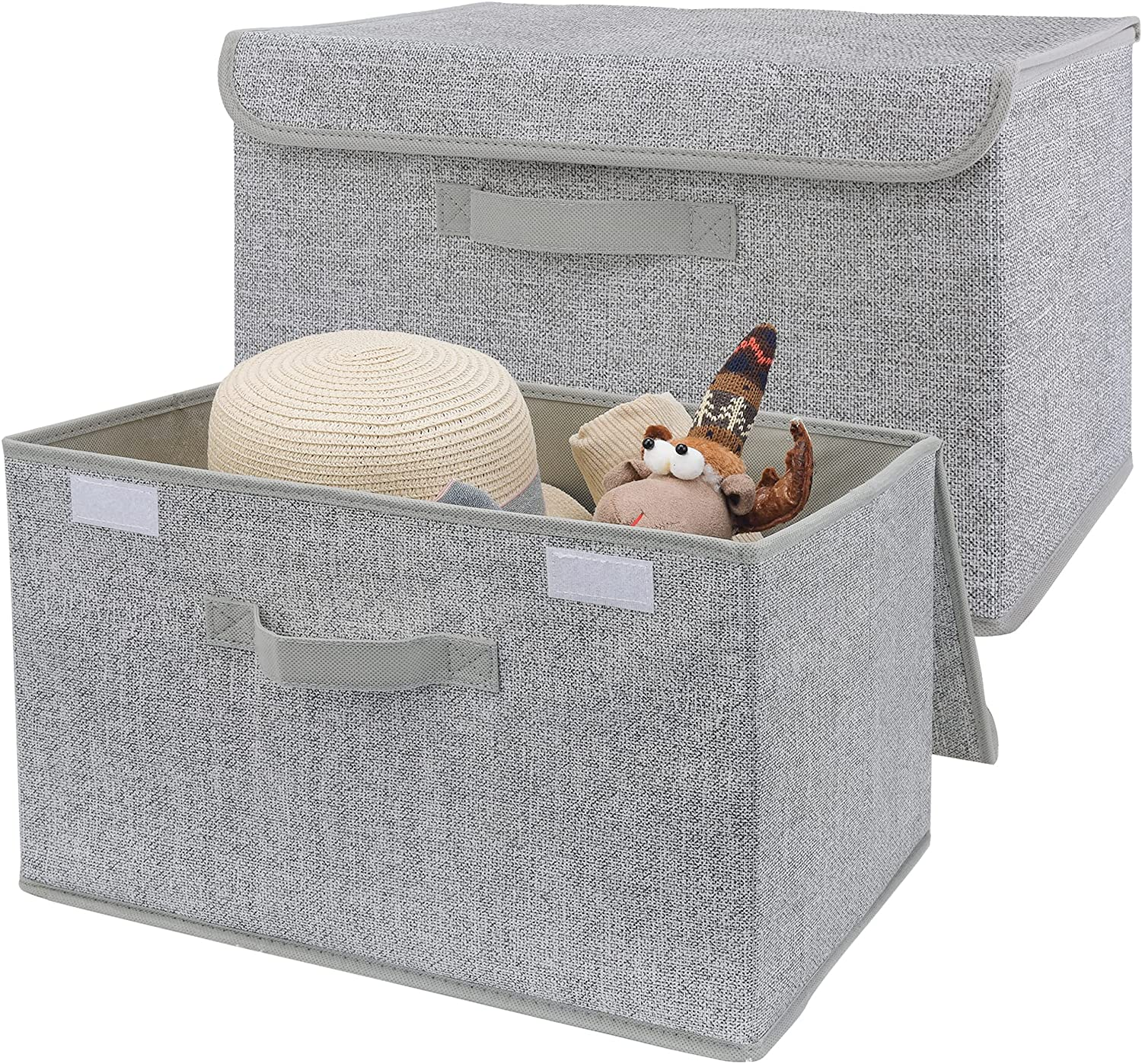 GRANNY SAYS Large Manufacturer regenerated product Storage Bins with Canvas Lids 2-Pack Special price for a limited time Boxes fo
