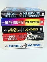 5 Dean Koontz Paperbacks-- The Servants of Twilight, Sole Survivor, Lightning, Dark Rivers of the Heart, and Key to Midnight