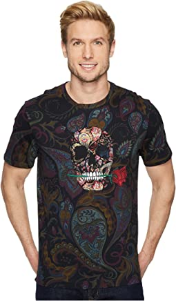 Robert Graham - Skull Rose Short Sleeve Knit T-Shirt