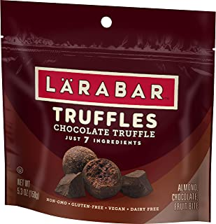Larabar Truffles, Chocolate, 5.3 oz. (1 Pouch), Vegan, Dairy Free, Gluten Free Snacks