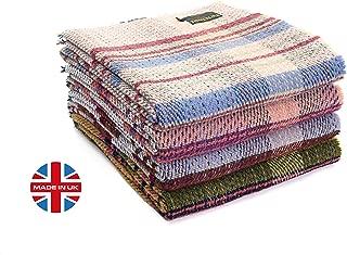 Tweedmill Eco Friendly All Wool Picnic Throw Blanket Rug, Repurposed Recycled from Unused Wool in Manufacturing, 60