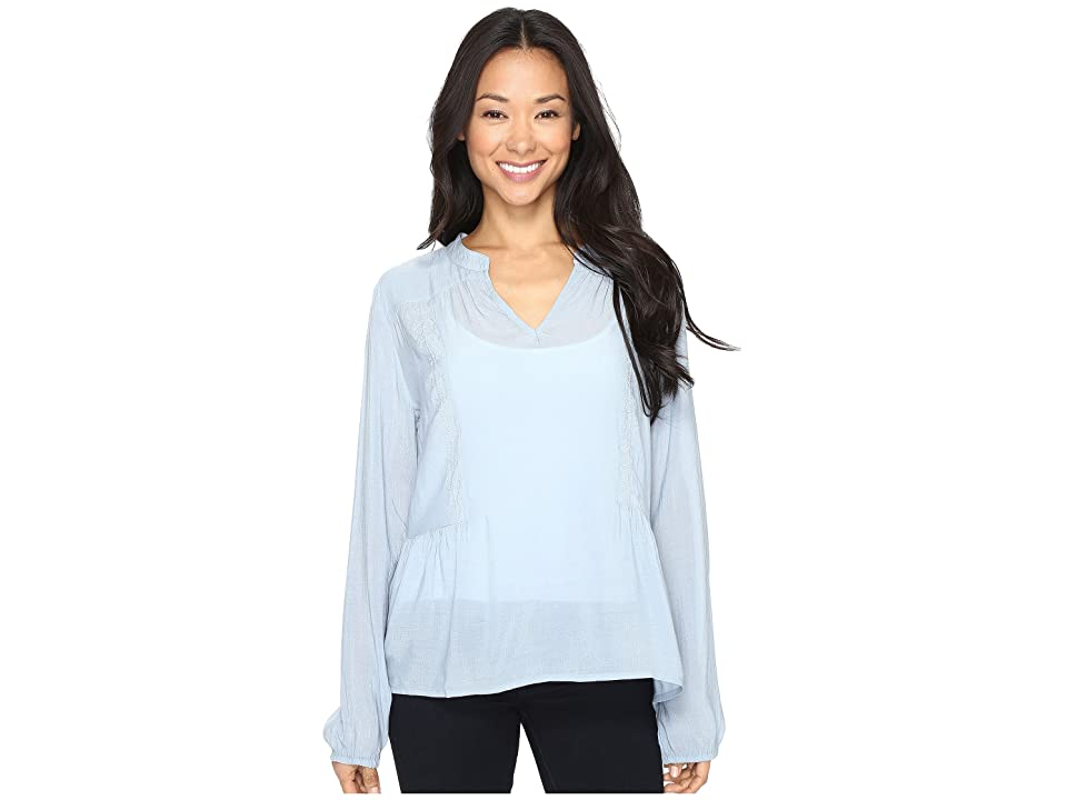 B Collection by Bobeau Meli Embossed Blouse (Light Blue) Women