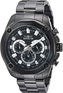 Men's Aviator Quartz Watch with Stainless-Steel Strap, Black, 10 (Model: 22807)