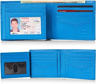 Alpine Swiss RFID Luka Men's Flip ID Wallet Deluxe Capacity ID Bifold With Divided Bill Section Camden Collection