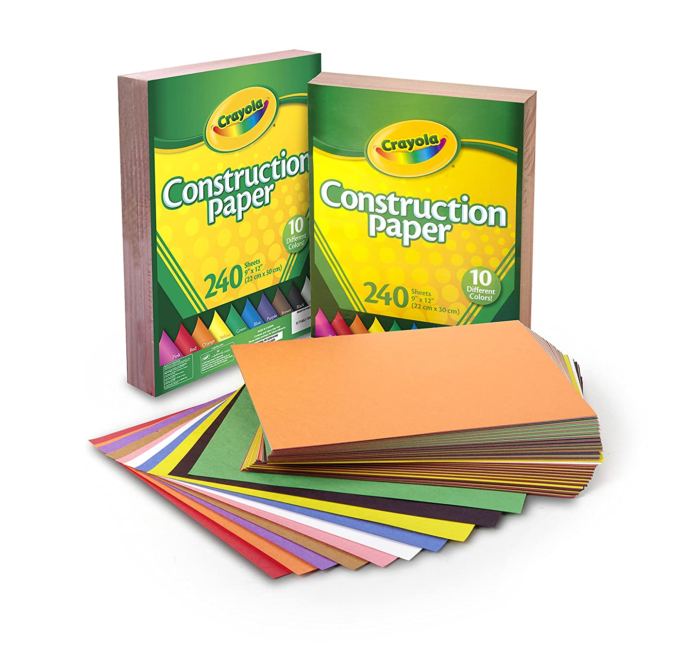 Crayola Construction Paper Bulk, 10 Colors, Great For Crafts, 480Count izq3894695