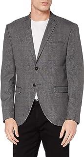 Selected Men's Slhslim-mylologan Grey Struc BLZ B Noos Blazer
