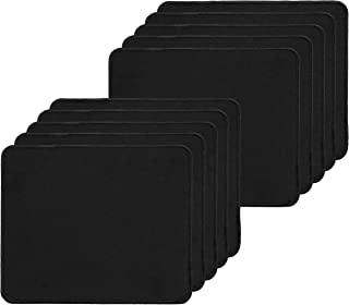 10 Pack Mouse Pad, Water Resistance Coating Natural Rubber Gaming Mouse Pad with Stitched Edges & Non-Slippery Rubber Base -(250 x 210 x 2mm) - Black Border