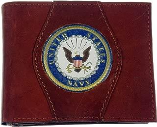Leather Wallet U.S. Navy Red Brown