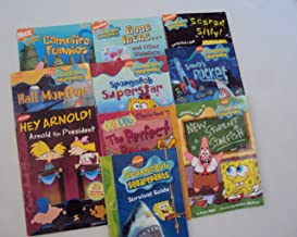 Nickelodeon Chapter Book Set for Kids : Spongebob Squarepants Survival Guide; Sandy's Rocket; Hall Monitor - Catdog, the Perfect Bone - Spongebob Superstar - Good Ideas and Other Disasters - Hey Arnold - Scared Silly - Campfire Funnies Joke Book (An Unofficial Box Set - 2nd Grade)
