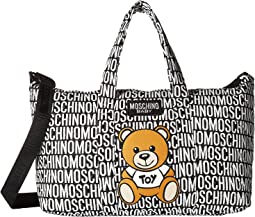 Moschino Kids Logo Print Teddy Bear Diaper Bag w/ Changing Mat