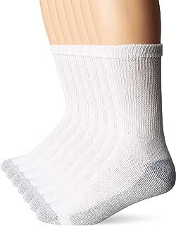 Men's White FreshIQ Cushion Crew Socks 7-Pack (1 Free Bonus Pair)