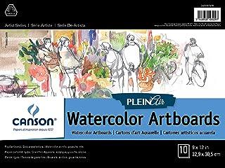 لوحة فنية مائية كانسون بلين إير بألوان مائية للحبر والغواش والاكريليك، 22.86 سم × 30.48 سم، مجموعة من 10 ألواح