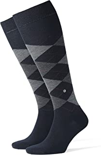 Hombre Edinburgh Calcetines altos Not Applicable, Azul (Dark Navy 6377), 7-10 (Talla del fabricante: 40-46)