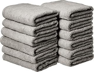 AmazonBasics Cotton Hand Towels – Pack of 12, Grey